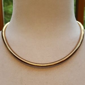 Jewelry - 14K Rose Gold Domed Omega Necklace
